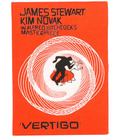 red vertigo book clutch