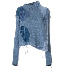 blue ovira patch sweater