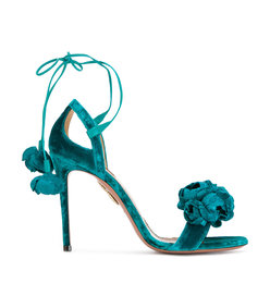 blue wild flower sandal
