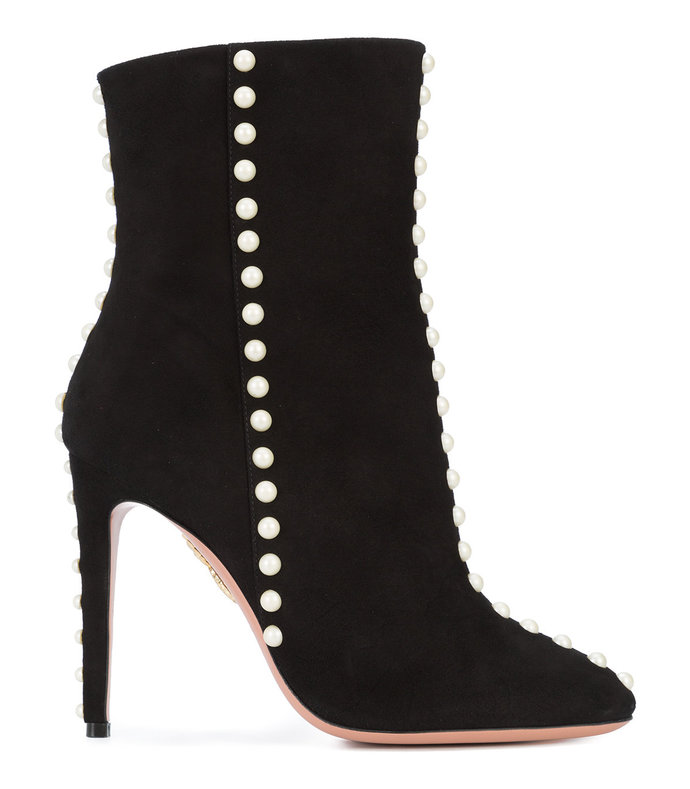 black follie pearl boots