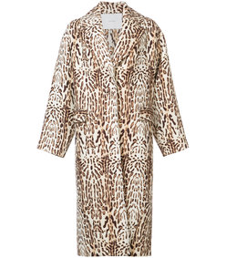 nude neutrals animal print coat