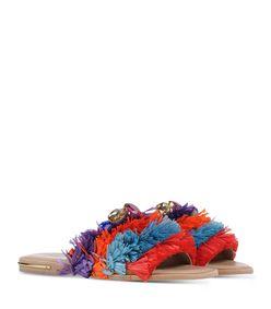 ShopBazaar Stella Jean Multicolor Fringe Sandal FRONT