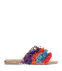 ShopBazaar Stella Jean Multicolor Fringe Sandal MAIN