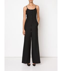 ShopBazaar Racil Black Wide-Leg Jumpsuit FRONT