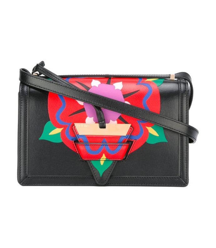 black floral shoulder bag