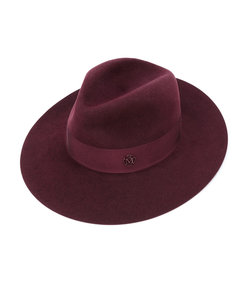 red henrietta band strap fedora hat