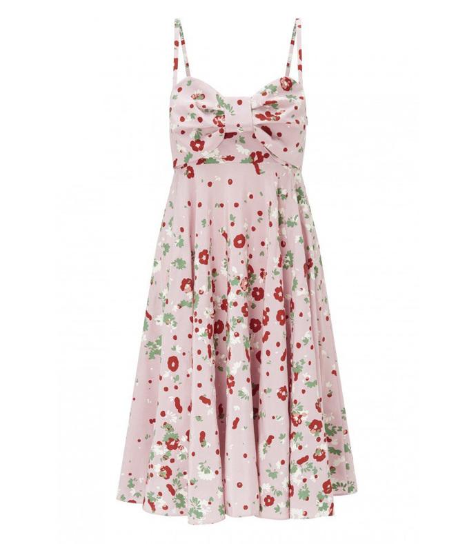 multicolor silk floral dress
