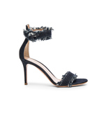 frayed denim sandal