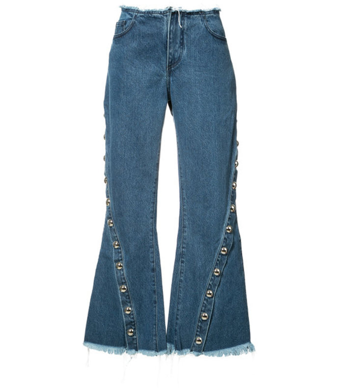 blue denim capri jeans