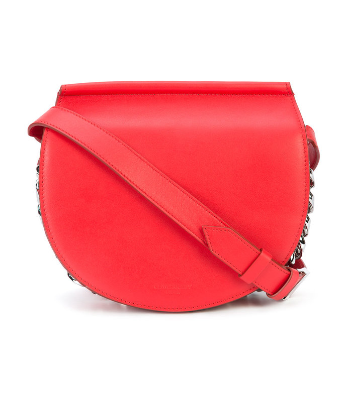 medium red infinity saddle bag