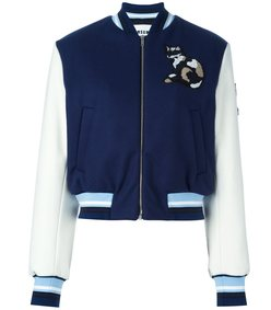 navy cat bomber jacket