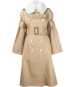 beige buckle trench coat