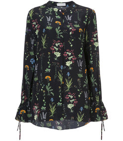 multicolor floral print shirt