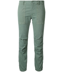 green cropped military pant
