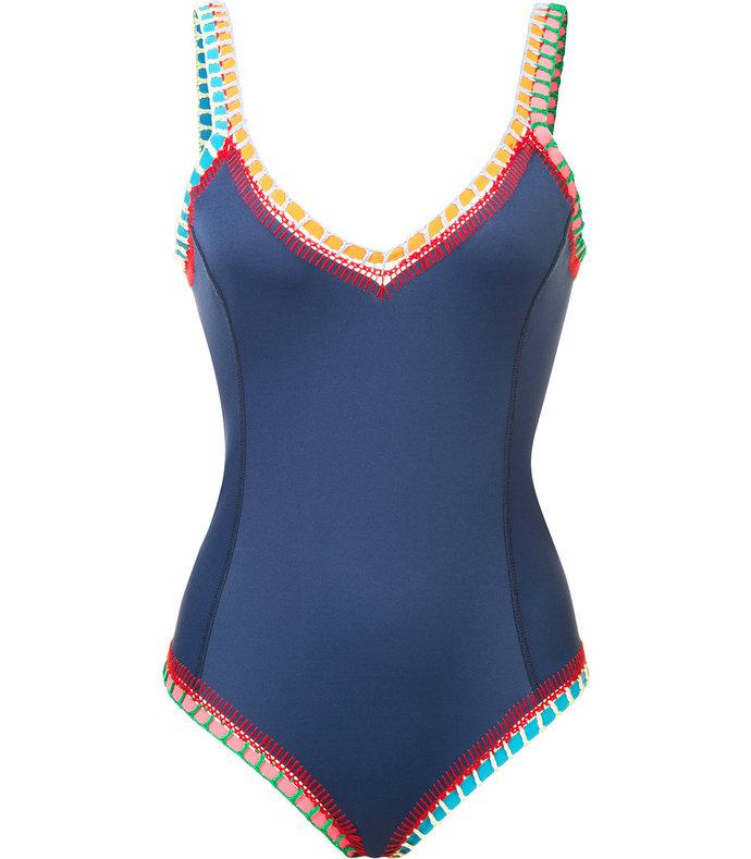 navy multi 'tasmin' one-piece swimsuit