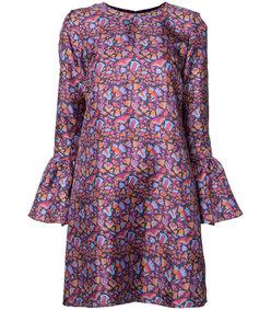 purple multi  silk dress