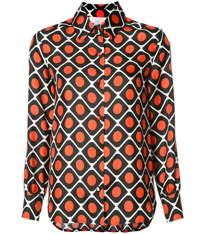 black & orange boy button down top