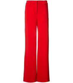 red relaxed wide pant