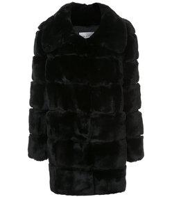 black rabbit lamb fur coat