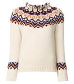 white jacquard sweater
