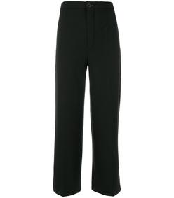 black cropped wide leg pant