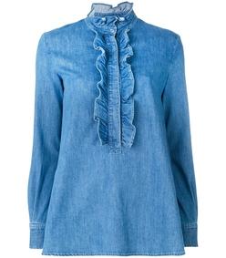 blue denim camicia blouse