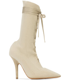 nude neutrals knit sock ankle boots