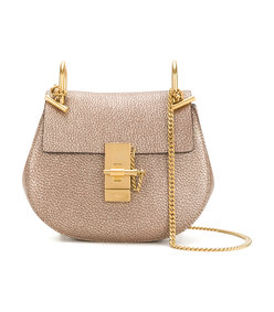 gold mini drew shoulder bag