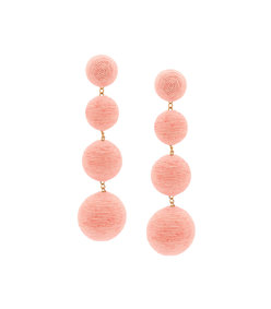 pink 'leticia' 4 drop solid earring