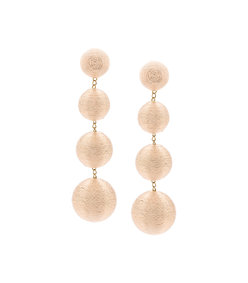 gold 'india' 4 drop solid earring