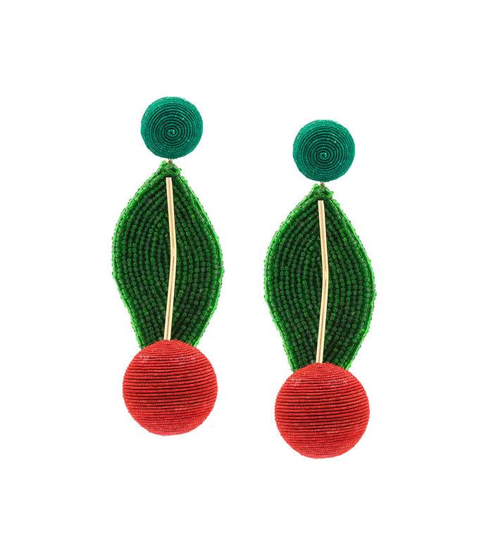 multicolor geometric drop earrings