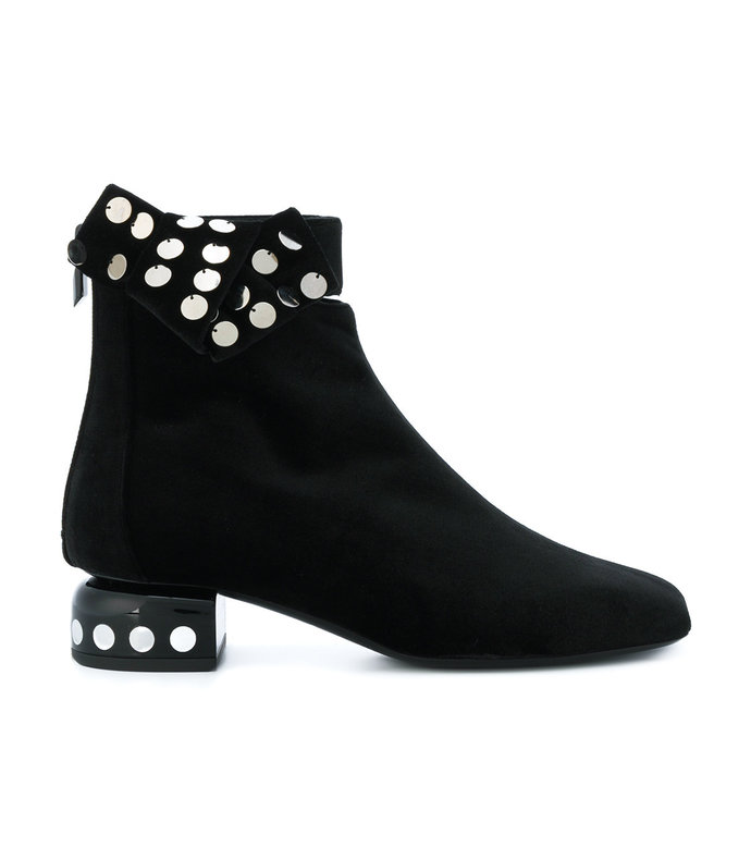 black lunar ankle boot