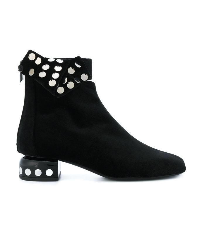 black lunar ankle boot