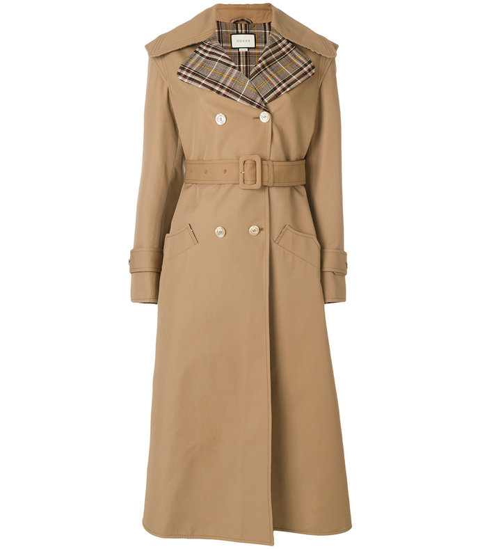 nude neutrals butterfly embroidered trench coat