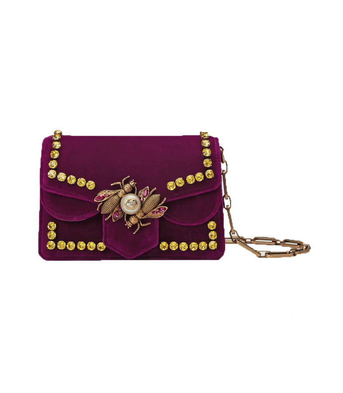 purple broadway evening bag