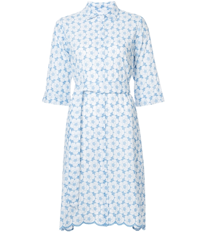 blue/white broderie anglaise cotton dress