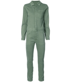 green janelle zip jumpsuit