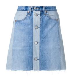 indigo seventies box levi's high-waist mini skirt