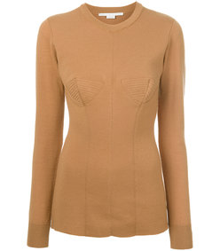 nude neutrals round neck sweater