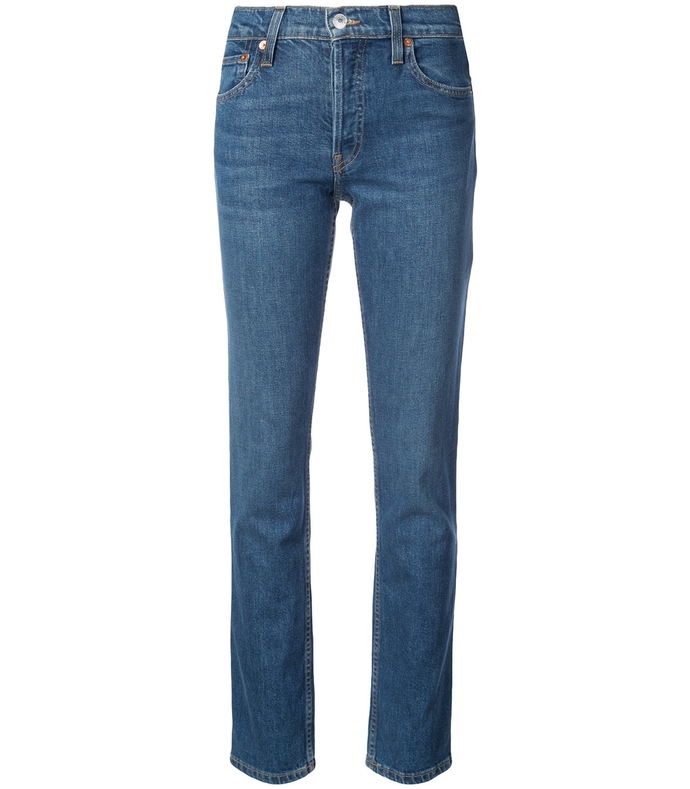 The Crawford High-Rise Straight-Leg Jeans RE37R13-BLU-25