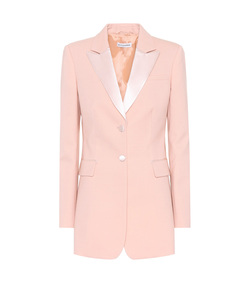 pink west stretch wool blazer