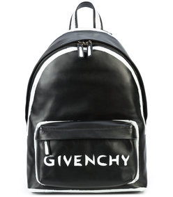 black paint detail backpack bag