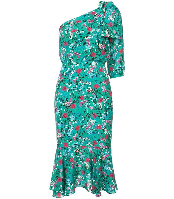 Green Multicolor Juliet Floral Midi Dress SAL37R61-GRM-8U/4