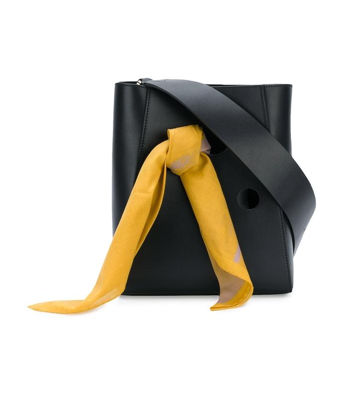 black bandana bucket bag