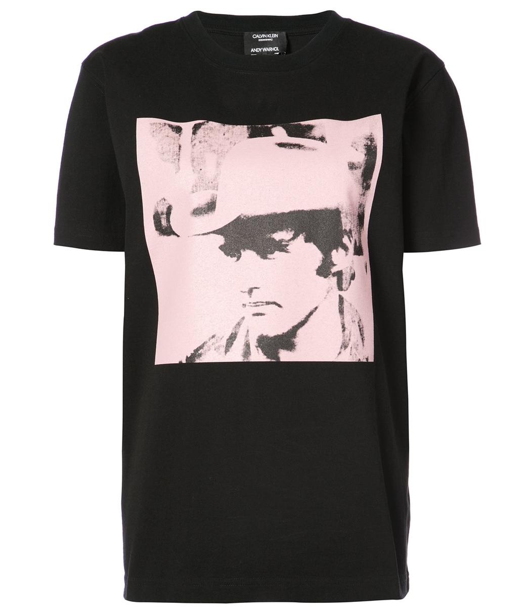 Calvin Klein X Andy Warhol Dennis Hopper T-Shirt in Black Pink