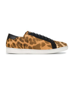 brown leopard court classic sneakers