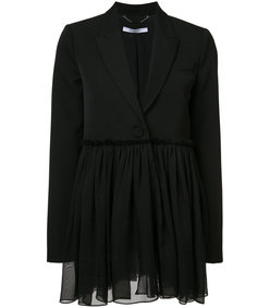 black flared blazer