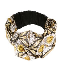 multicolor floral jacquard headband