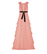 pink viscose jersey gown