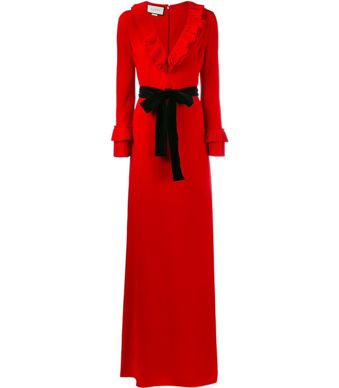 red viscose jersey gown